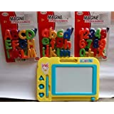 Elite Enterprises Combo Of Magnetic Learning Alphabets And Numbers (ABC &123) With Drawing,Writing Magic Slate For Kids