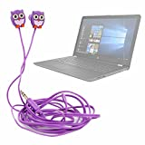 DURAGADGET Auriculares para Niños Estéreo in Ear con Diseño de Búho para Portátil HP 17-BY0320NG, HP Elitebook 840 G5, HP Notebook 15-bs127ns