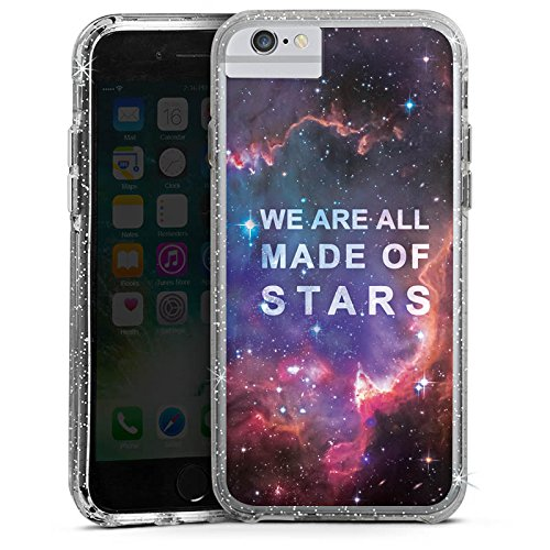 Apple iPhone 8 Bumper Hülle Bumper Case Glitzer Hülle Sprüche Phrases Sayings Bumper Case Glitzer silber