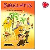 BibelHits - 100 Kinderlieder zum Alten und Neuen Testament - Zielgruppe: Kindergarten, Grundschule, Gemeinde, Kindergottesdienst, Familie - Liederbuch mit bunter herzförmiger Notenklammer