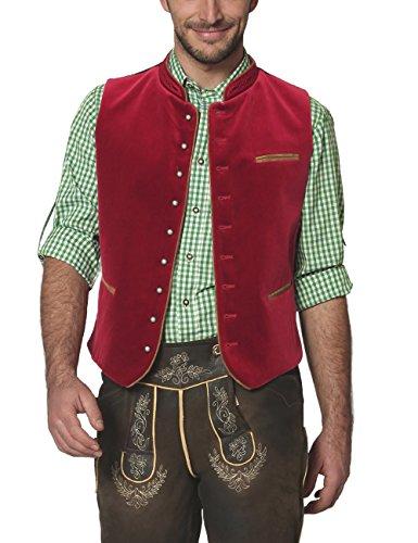 Stockerpoint Herren Trachtenweste Weste Ricardo, Rot (Dunkelrot), Medium (Herstellergröße: 50)