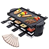 Swivel Raclette Grill for 8 Person - Indoor BBQ Electric Party Grill