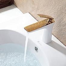 gimili rubinetti bagno miscelatore per lavabo lavello rubinetto lucido oro e bianco