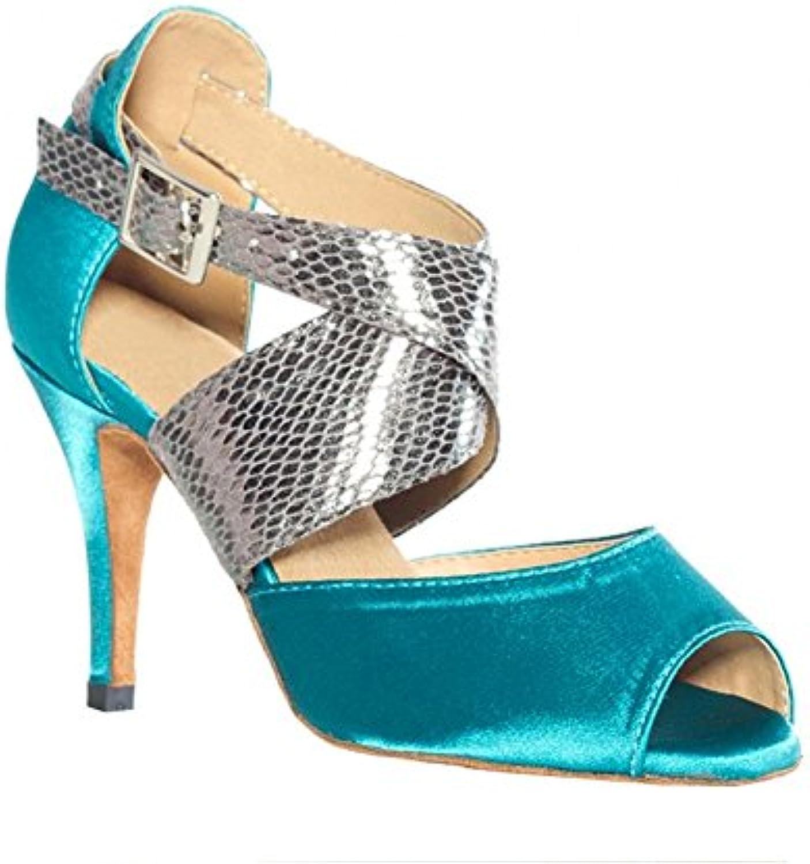 Sandali Sandali Sandali da ballo latino donne scarpe raso pelle salsa samba tango sala da ballo aprire il piede solette morbide...   tender  422094