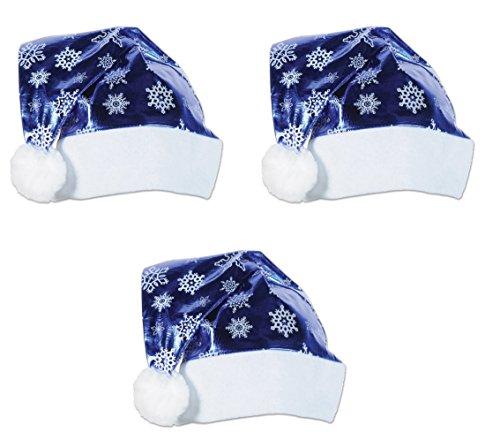 Beistle 320811teilig blau metallic Santa Hüte,, blau/weiß (Blauen Und Santa Weißen Hüte)