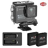 SJCAM SJ6 Legend WIFI 4K 16MP Action Kamera mit 2.0 HD Touchscreen 0.9 Front LCD Screen 170 ° Weitwinkel Gyro Stabilisierung Externes Mikrofon Fernbedienung Wasserdichte Unterwasser Digital Action Kam