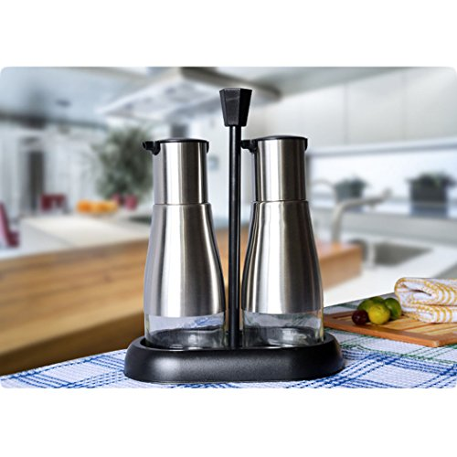 hifina-stainless-steel-oil-and-vinegar-set-with-stand-kitchen-tool-black
