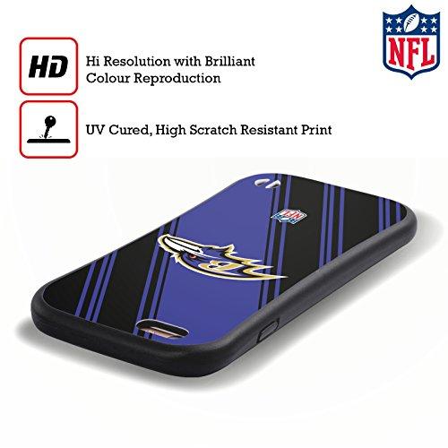 Ufficiale NFL Righe 2017/18 Baltimore Ravens Case Ibrida per Apple iPhone 6 Plus / 6s Plus Righe