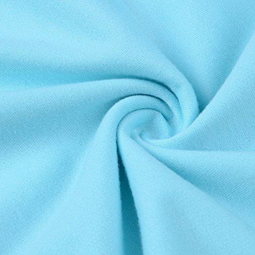 FANTIGO Damen Umlegekragen Kapuzenpullover Sweatshirt Mit Kapuze Slim Fit Langarm Pullover Herbst Winter Blau