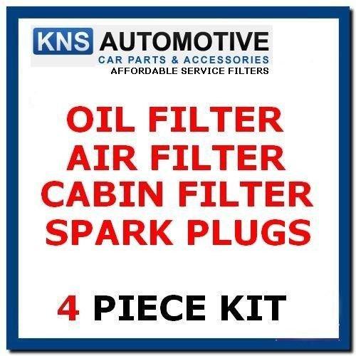 Fabia 1.2 12 V à essence 64bhp 03-08 Plugs, cabine, Air et filtre à huile kit d'entretien