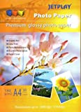Jetplay A4 GLOSSY INKJET PHOTO 1 Pack-180 gsm PAPER 50 Sheets Compatible with all Inkjet Printers