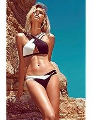 Code de couleur correspondant bikini maillot de bain noir et blanc Europe et maillot de bain sexy
