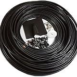 25m Twin Koaxial Kabel SAT WF65Zwillingskabel dünn installieren, für Sky HD und Freesat führen–10m, 15m, 20m Drum