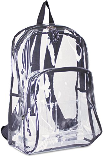 Clear backpack – Eastsport Sac à dos transparent (Transparent avec garniture noire)