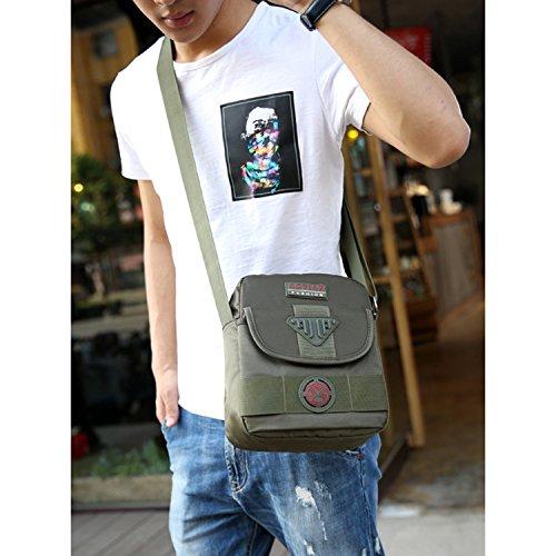 Outreo Schultertasche Vintage Messenger Bag Umhängetasche Retro Taschen Sport Herren Kuriertasche Schule Herrentaschen für Reisen Schwarz