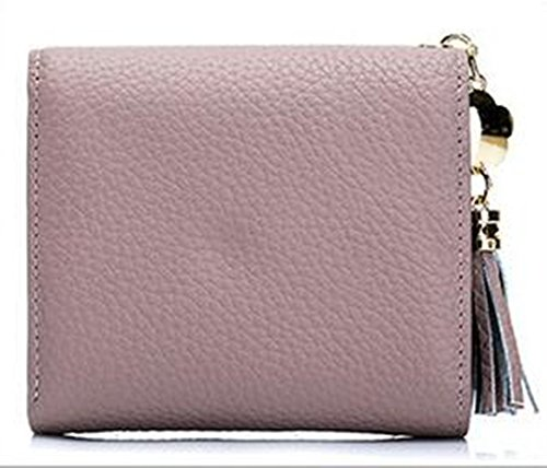 MeiliYH Fashion Ladies Moda Fringed Short Wallet Busta di Parola Rosa
