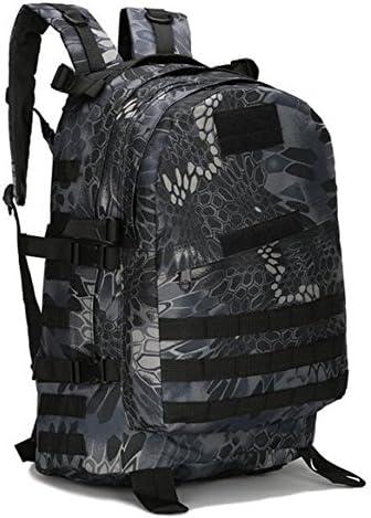 3D militare tattica zaino impermeabile borsa camouflage sport sport sport viaggio trekking zaino 40l, mangwen nero | Ottimo mestiere  | Alta qualità ed economico  3b1377