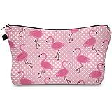 Bonamana Einhorn Flamingo Muster Große Kapazität Bleistift Tasche Kulturbeutel Kosmetik Make-up Tasche Tasche Organizer für Reise