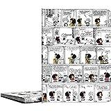 Classeur de pochettes A4 soudées, motif Mafalda Comic, 30 pochettes transparentes, couvertures en polypropylène.