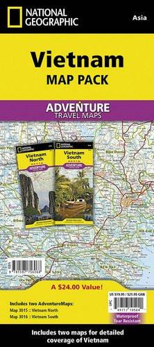 Vietnam, Map Pack Bundle (National Geographic Adventure Map)