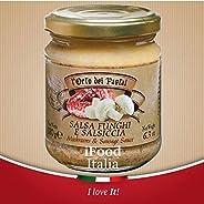 Salsa artigianale per crostini funghi e salsiccia l'Orto dei Pastai iFood Italia 180g Umbria Made in I