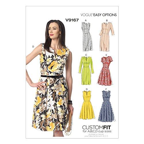Vogue Mustern 9167A5Größen 6-8-10-12-14Misses Kleid - Mieder Rock Seide