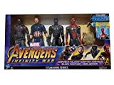 Marvel Avengers Infinity War con Titan Hero Power FX Incluye Capitán America, Black Panther, Iron Spider s Falcon