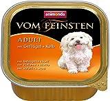 Animonda Vom Feinsten Adult, Nassfutter für ausgewachsene Hunde von 1-6 Jahren, mit Geflügel und Kalb, 22 x 150 g