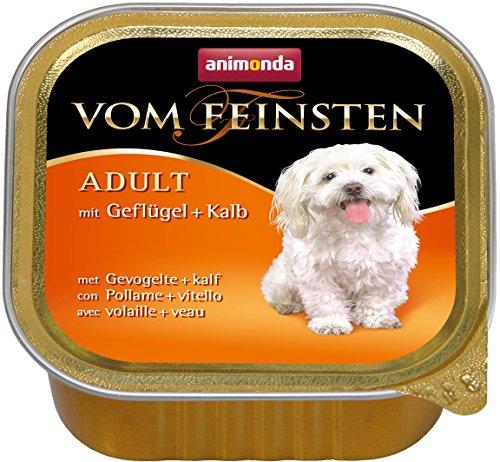 Animonda vom Feinsten Hundefutter Adult mit Geflügel + Kalb, 22er Pack (22 x150 - Für Kälber Gewichte