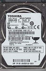 Toshiba MK6476GSX 2.5 inch 640GB 5400RPM SATA Internal Hard Disk Drive