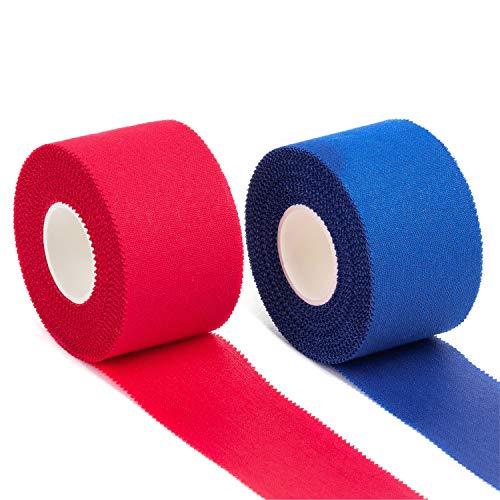 Igoera Sporttape, 2 Rollen je 3,8 cm x 10 m, Athletic Tape aus 100{09fcb21a437c0155b864c7d1ab8b26ed8b791c42be02ece0e124b44dad11f567} Baumwolle, selbstklebendes Tapeband für stützende und schmerzlindernde Bandagen