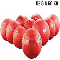 ELJQI - Slam Ball - Color Rojo, Peso: 35 Kg