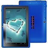 Haehne MiniPad 7 Pouces Google Tablette PC, TN HD 1024*600P Écran Tactile Capacitif, Android 4.4 KitKat, Quad Core Allwinner A33 1Go de RAM 8Go 1.6GHz ROM, Dual Caméras 0.3MP 2.0MP, WiFi, Bluetooth (Bleu)
