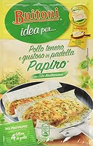 Buitoni Idea per Pollo Tenero e Gustoso Papiro con Erbe Mediterranee Fogli di Carta Speziata, 4 Pezzi