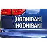 Hoonigan Vinyl Die Cut x2 Stickers Decals Ken Block White 75mm x 15mm