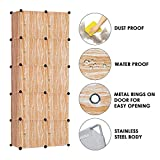 #2: Nyrwana Fancy Portable Plastic Foldable Closet with Shelves, Brown