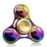 Blion Fidget Spinner Enfant ou Adulte - Roulement Haute Vitesse - Tourne 1 Minute -Triangle Spinner Fidget Toy Contre Stress Anxiété (Coloré)