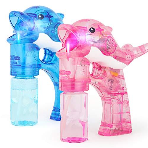 Lunuolao Elektrische Kinder Outdoor-Bubble-Spielzeug, super leisen Motor, einfach zu bedienen, ungiftig Umwelt Kunststoff, perfekt zum Spielen, Hochzeiten verwenden -