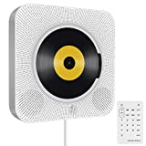 Portable CD Player, Tenswall Wall Mountable Bluetooth Built-in HiFi Speakers, Home Audio Boombox