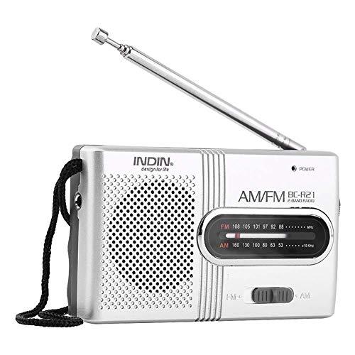 Portable Fm Radio,Mini Digital Beweglicher FM Radio Tragbares Lautsprecher MP3 Musik Spieler mit LED Anzeige für PC iPod Telefon