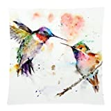 Elegancebeauty Comfortable Bedding Feed Each Other Hummingbirds 18x18 Inch Pillow Case Cushion Cases 18 X 18 Inches / 45 by 45 Cm Best Choice For Outdoor,Lounge,Deck Chair,Couples,Him