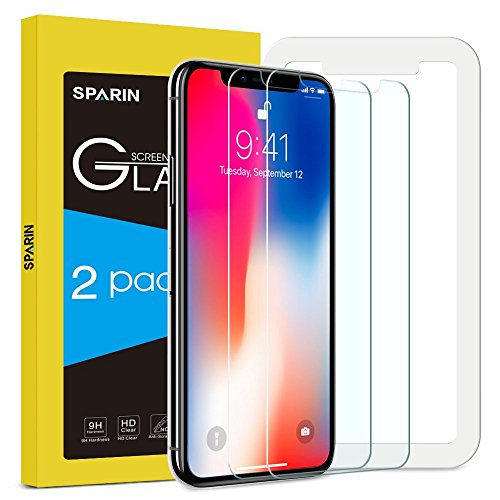 [2-Pack] Protector Pantalla iPhone X,...