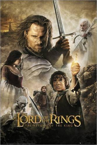Poster Herr der Ringe - Rückkehr des Königs - preiswertes Plakat, XXL Wandposter