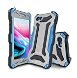 OMEE Phone Cover - PC Metal Impermeabile, Antipolvere, Resistente alle Cadute per iPhone X/XS / R/XS Max 7plus / 8plus / 7/8 / 6plus / 6splus / 6 / 6s,Blue,IPhone6plus/6splus