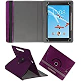 Fastway Rotating 360° Leather Flip Case For Lenovo Tab 4 8 Plus 16 GB 8 Inch With Wi-Fi+4G Tablet Purple