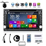 neuesten Win 8 UI Design 15,7 cm-INDASH Doppel 2 DIN LCD Touch Screen Navigation Auto Video Audio Radio Auto Stereo mit Bluetooth, Subwoofer Ausgang + GPS ANTENNE + Review Kamera
