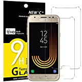 NEW'C Verre Trempé pour Samsung Galaxy J3 2017,[Pack de 2] Film Protection écran - Anti Rayures - sans Bulles d'air -Ultra Résistant (0,33mm HD Ultra Transparent) Dureté 9H Glass