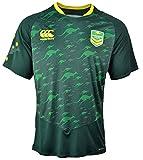 Canterbury Australia Kangaroos 2017 - Tshirt Entraînement de Rugby Joueurs - Vert Foret - Taille XL