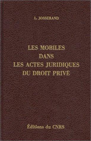 Mobiles dans les actes juridiques du droit privé