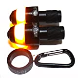 WingLights Mag V2 - Direction Indicators for Bicycles / Bike Indicators AS SEEN ON DRAGONS' DEN - Carbon Black